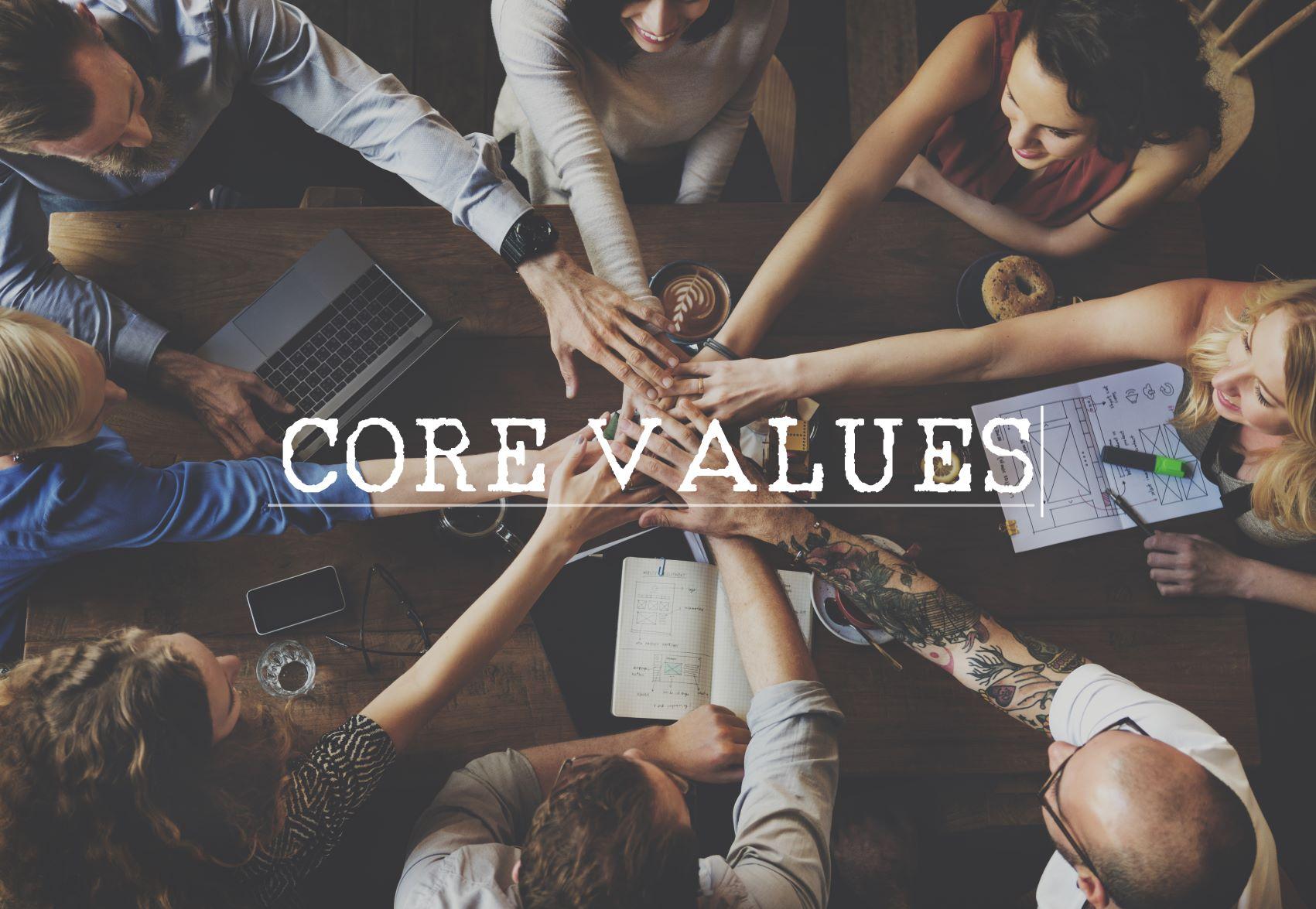 Zusammenhalten, Zusammenrücken, Zusammenarbeiten -Werte schaffen, die verbinden